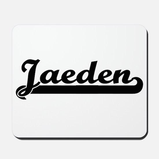 Jaeden Classic Retro Name Design Mousepad