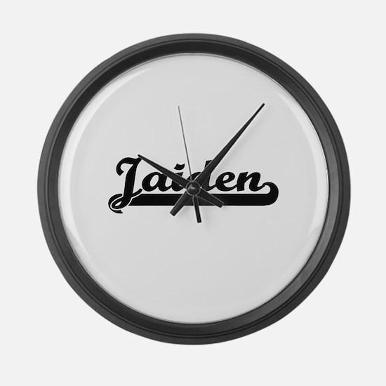 Jaiden Classic Retro Name Design Large Wall Clock