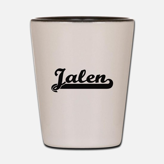 Jalen Classic Retro Name Design Shot Glass