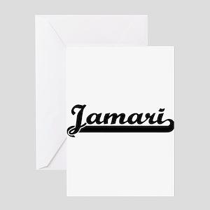 Jamari Classic Retro Name Design Greeting Cards