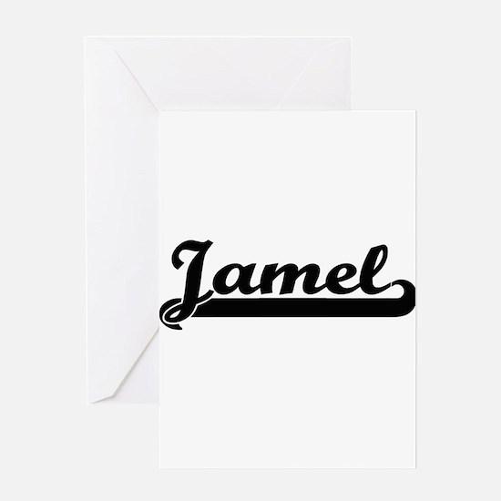 Jamel Classic Retro Name Design Greeting Cards