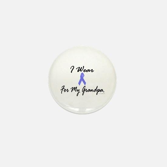 I Wear Light Blue For My Grandpa Mini Button