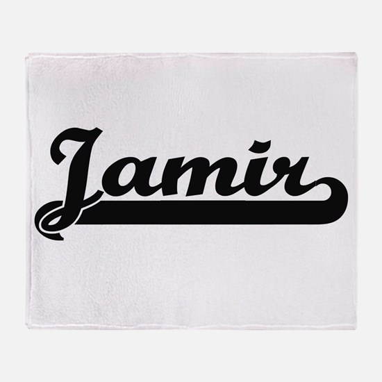 Jamir Classic Retro Name Design Throw Blanket