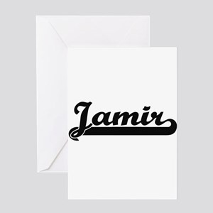 Jamir Classic Retro Name Design Greeting Cards