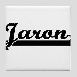Jaron Classic Retro Name Design Tile Coaster