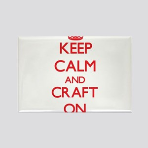 Keep Calm and Craft ON Magnets