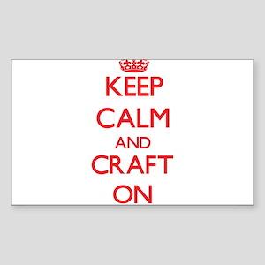 Keep Calm and Craft ON Sticker