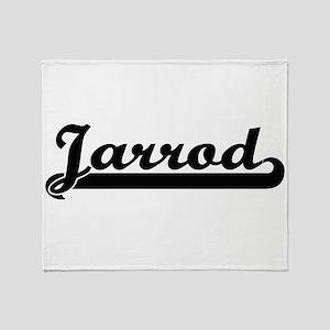 Jarrod Classic Retro Name Design Throw Blanket