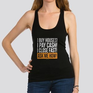 We Buy Houses Racerback Tank Top