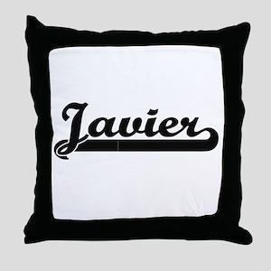 Javier Classic Retro Name Design Throw Pillow