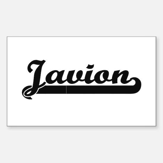 Javion Classic Retro Name Design Decal