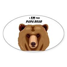 I Am the Papa Bear Sticker (Oval)