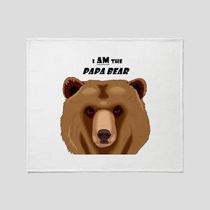 I Am the Papa Bear Throw Blanket