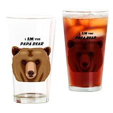 I Am the Papa Bear Drinking Glass