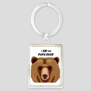 I Am the Papa Bear Portrait Keychain