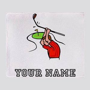 Angry Golfer (Add Name) Throw Blanket