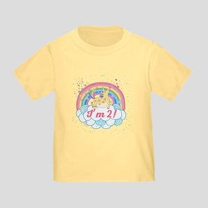 2nd Birthday Unicorn Toddler T-Shirt