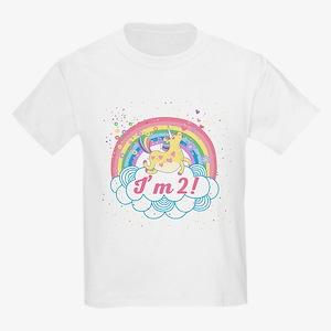 2nd Birthday Unicorn Kids Light T-Shirt