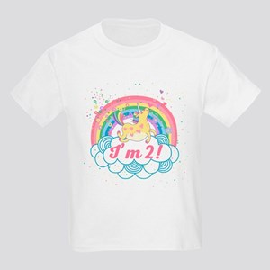 2nd Birthday Unicorn Kids Light T-Shirt