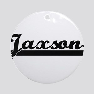 Jaxson Classic Retro Name Design Ornament (Round)