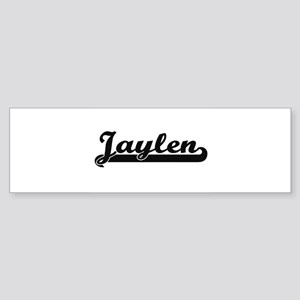 Jaylen Classic Retro Name Design Bumper Sticker