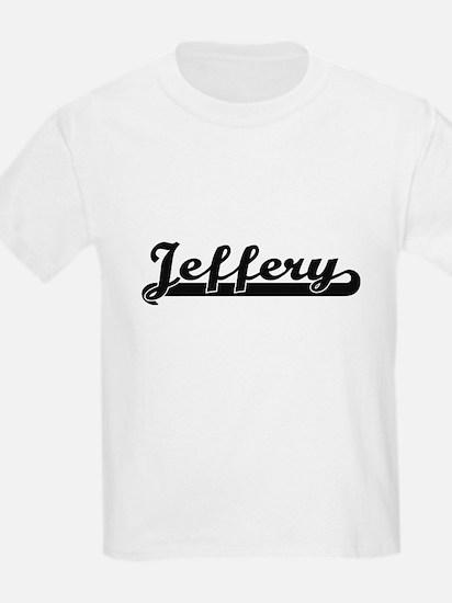 Jeffery Classic Retro Name Design T-Shirt
