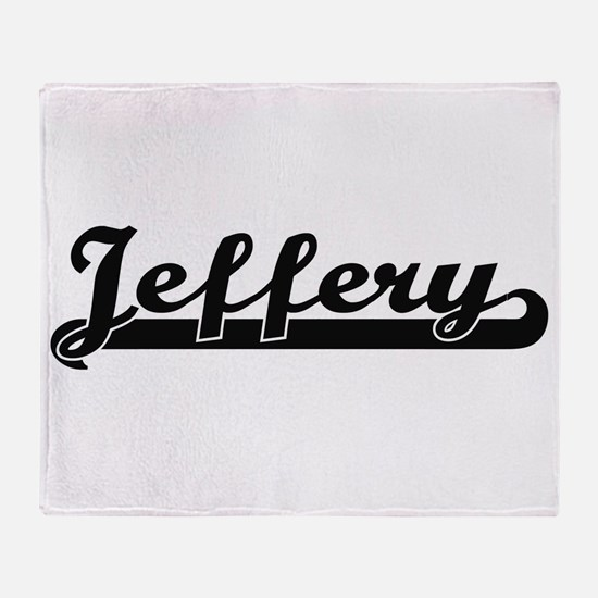 Jeffery Classic Retro Name Design Throw Blanket