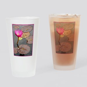 waterlily pad, floral photo Drinking Glass
