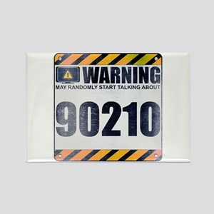 Warning: 90210 Rectangle Magnet