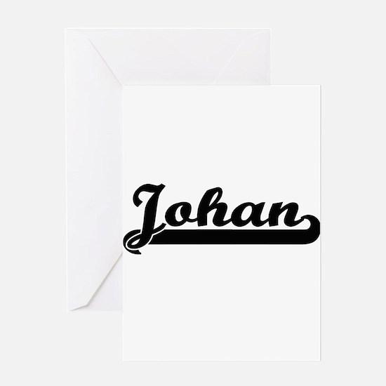 Johan Classic Retro Name Design Greeting Cards