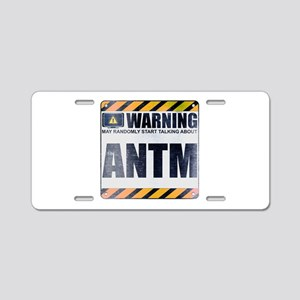 Warning: ANTM Aluminum License Plate