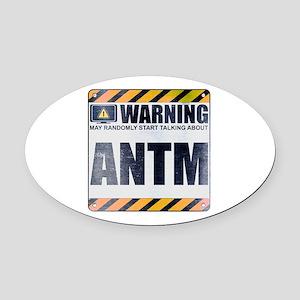 Warning: ANTM Oval Car Magnet