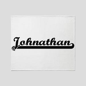 Johnathan Classic Retro Name Design Throw Blanket