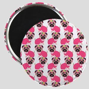 Pug in Pink Magnet