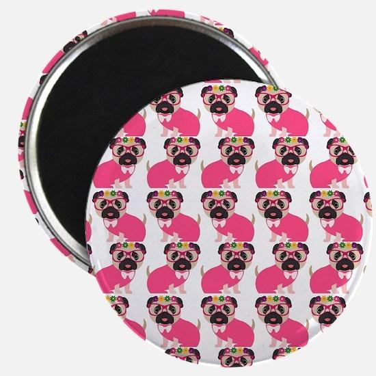 "Pug in Pink 2.25"" Magnet (10 pack)"