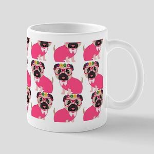 Pug in Pink Mug
