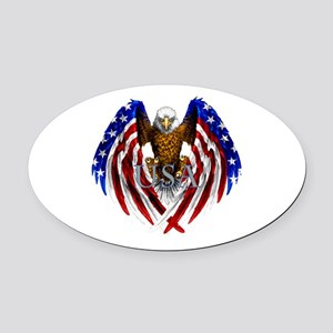 Eagle2 Oval Car Magnet
