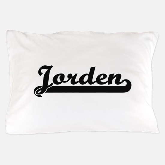 Jorden Classic Retro Name Design Pillow Case