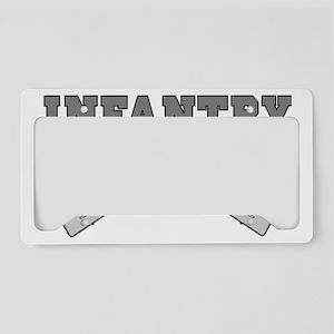 INFANTRY CROSSED RIFLES License Plate Holder