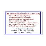 Unconstitutional Laws Car Magnet 20 X 12