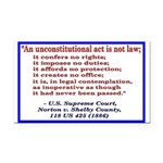 Unconstitutional Laws Rectangle Car Magnet