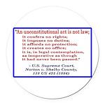 Unconstitutional Laws Round Car Magnet