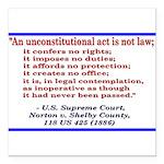 Unconstitutional Laws Square Car Magnet 3