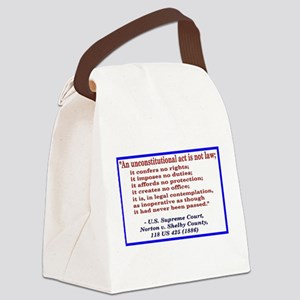 Unconstitutional Laws Canvas Lunch Bag