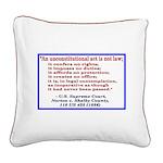 Unconstitutional Laws Square Canvas Pillow