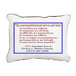 Unconstitutional Laws Rectangular Canvas Pillow