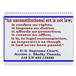 Unconstitutional Laws Wall Calendar