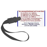 Unconstitutional Laws Large Luggage Tag