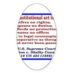 Unconstitutional Laws Sticker (Oval 50 pk)