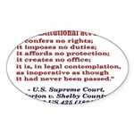 Unconstitutional Laws Sticker (Oval 10 pk)